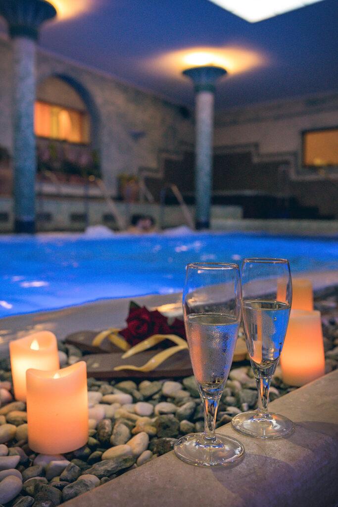 Piscina interna Resort Casanova San Quirico d'Orcia